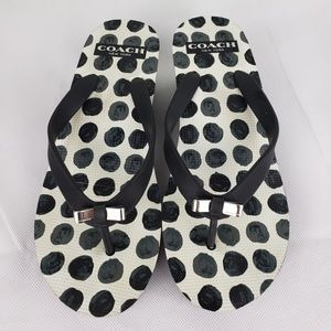 Coach Wedge Polka Dots Sandals